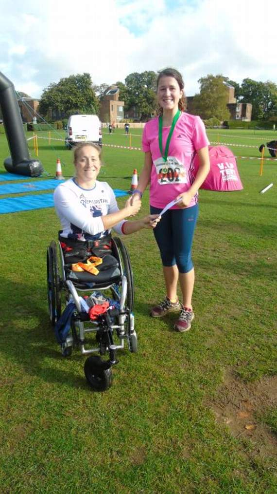 Paralympian inspires  Charterhouse Trail runners