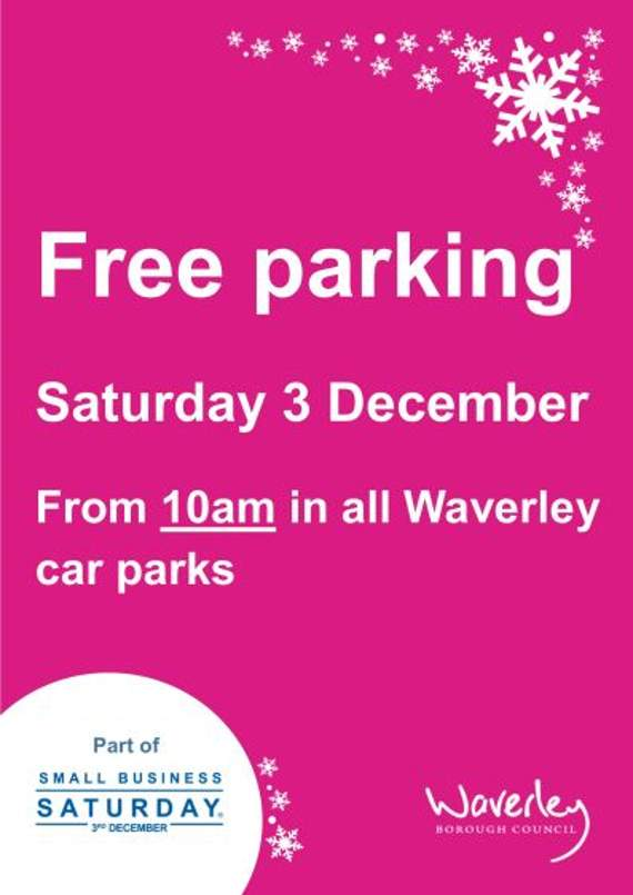 Free parking for Christmas shoppers on December 3rd – spread the word!