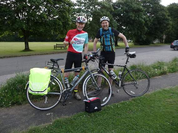 Charity cyclist reaches the Severn
